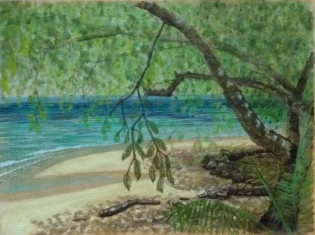 Trees, shade and ocean, Laem Tong Beach from room 118, Holiday Inn,Phi Phi Island, 23-26:10:15
