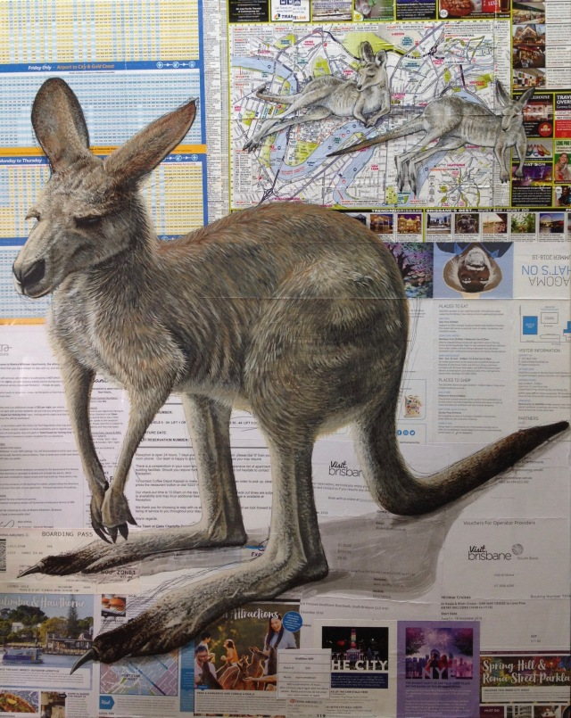 Brisbane, Mixed-Media on Canvas, 91 x 72.5 cm, 2019 by David Lloyd.