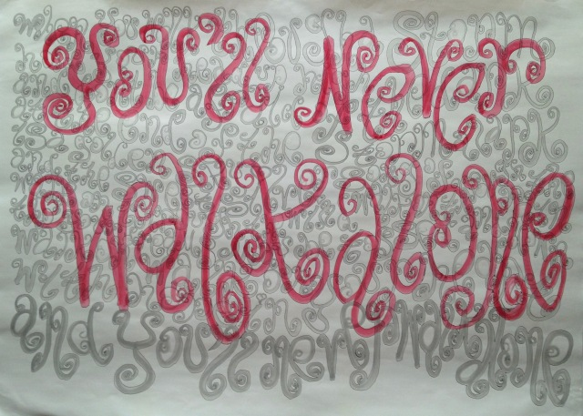 You'll Never Walk Alone 1, Ink and Acrylic on Paper, 110 x 79cm, 2010 by David Lloyd